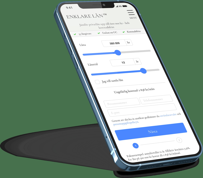 iPhone-mobilapp låneguiden 2021